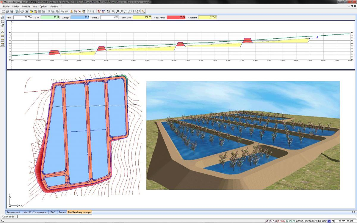 Calculate cut and fill volume retention basin calculation for Design a pond software